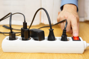 éteindre multiprise équipements